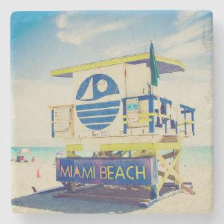 Lifeguard Tower | South Beach, Miami, Fl Stone Beverage Coaster