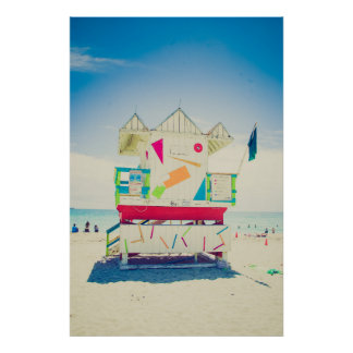Lifeguard Tower | South Beach, Miami Poster