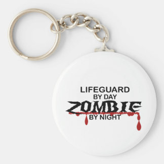 Lifeguard Zombie Basic Round Button Key Ring