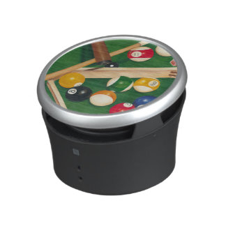 Lifelike Billiards Table with Balls and Chalk Bluetooth Speaker