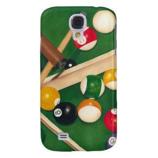 Lifelike Billiards Table with Balls and Chalk Galaxy S4 Case