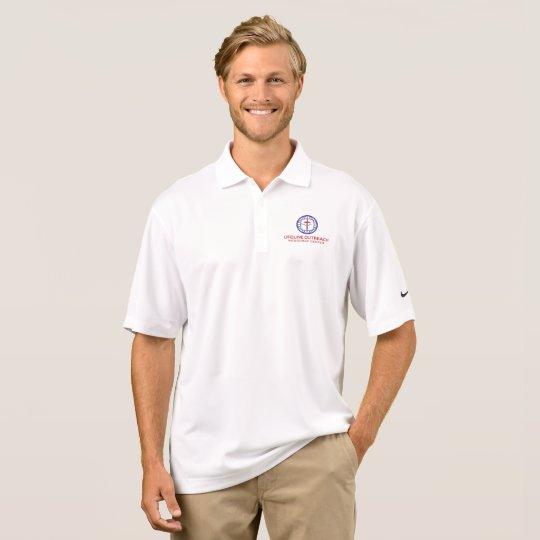 LifeLine Outreach Resource Centre White Dre-Fit Polo Shirt