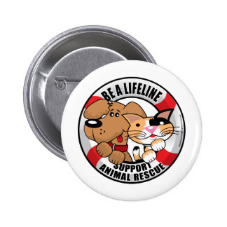 Lifeline Support Amimal Rescue Pinback Button