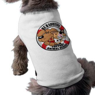 Lifeline Support Amimal Rescue Doggie Tshirt
