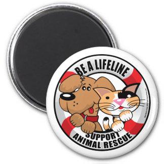 Lifeline Support Amimal Rescue Refrigerator Magnet