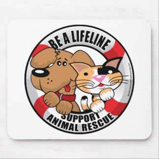 Lifeline Support Amimal Rescue Mouse Mat