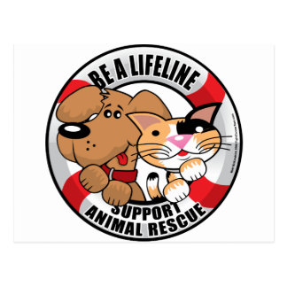 Lifeline Support Amimal Rescue Post Cards