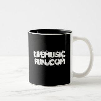 LifeMusicFun Black/White Mug