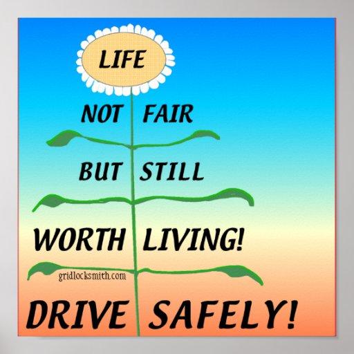 LifeNotFair-DriveSafely! Poster