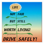 LifeNotFair-DriveSafely! Print