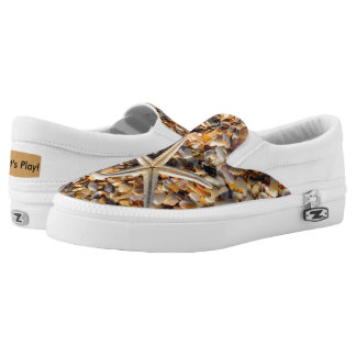 Life's a Beach Let's Play Seashells & Starfish Fun Slip-On Shoes