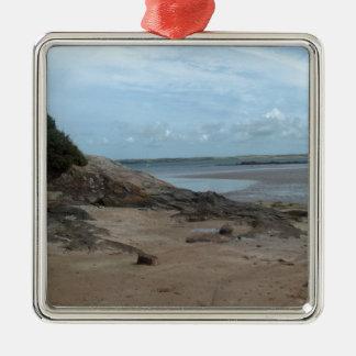 Life's a beach Silver-Colored square decoration