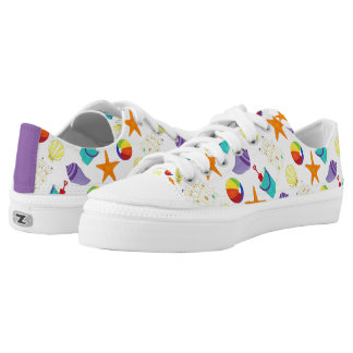 Life's a Beach Summer Shells Sand Vacation Sneaker Printed Shoes