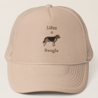 Life's a Beagle no background Trucker Hat