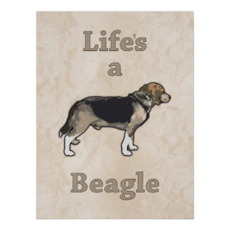 Life's a Beagle Poster