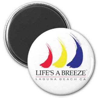 Life's a Breeze™_Paint-The-Wind_Laguna Beach 6 Cm Round Magnet