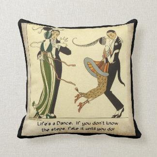 Life's a Dance:  Art Deco Illustration Cushion