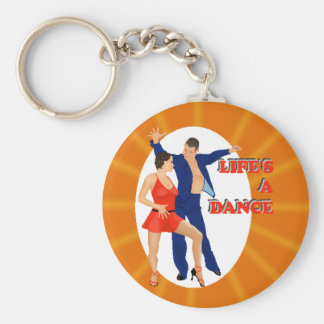 Life's A Dance Basic Round Button Key Ring