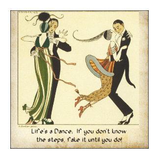 Life's a Dance: Vintage 1913 Gallery Wrap Canvas
