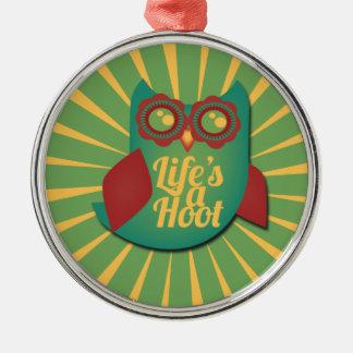 Life's a Hoot owl Christmas Ornament
