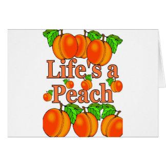 Life's a Peach Greeting Card