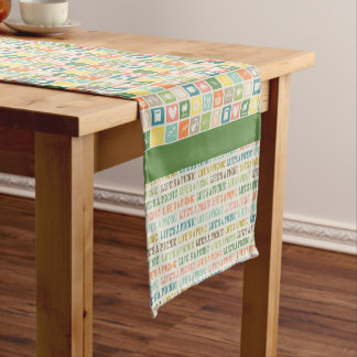 Life's A Picnic Moss Green Table Runner