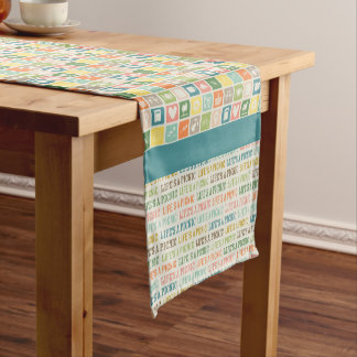 Life's A Picnic Sea Blue Table Runner