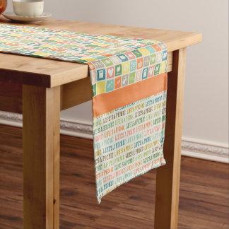 Life's A Picnic Soft Orange Table Runner