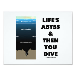 Life's Abyss And Then You Dive (Pelagic Zone) 11 Cm X 14 Cm Invitation Card