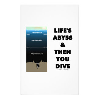 Life's Abyss And Then You Dive (Pelagic Zone) Stationery Design