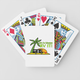 Life's An Adventure So RV It Bicycle Playing Cards