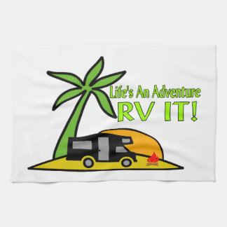 Life's An Adventure So RV It Tea Towel