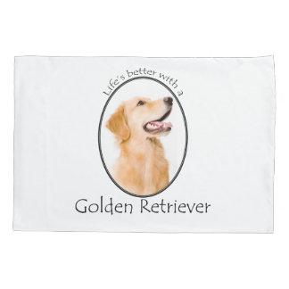 Lifes Better Golden Duvet Cover