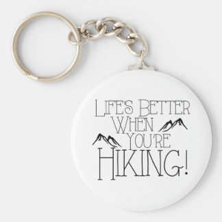 Life's Better Hiking Basic Round Button Key Ring