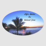 Life's Better On  Island Time Sticker