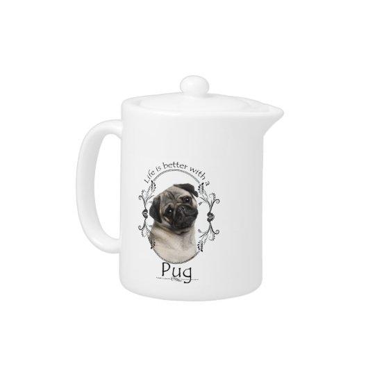 Life's Better Pug Teapot