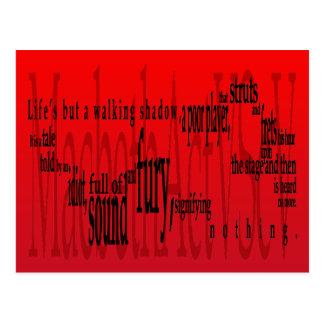 'Life's but a Walking Shadow' Macbeth Shakespeare Postcard