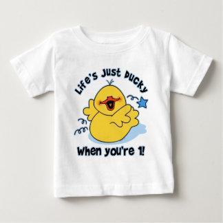 Life's Ducky 1st Birthday Baby T-Shirt