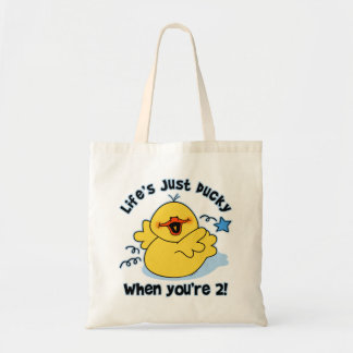 Life's Ducky 2nd Birthday Canvas Bags