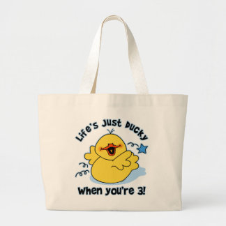 Life's Ducky 3rd Birthday Tote Bag