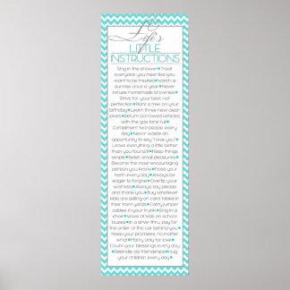 Lifes Little Instructions (aqua) Print