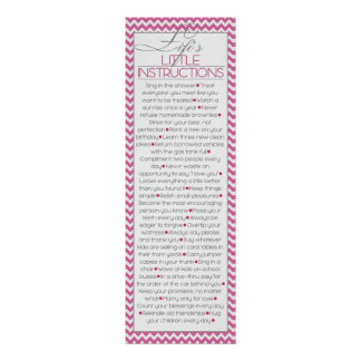 Lifes Little Instructions (pink) Poster