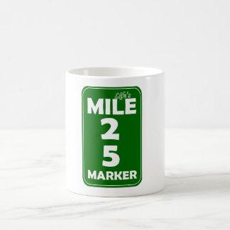 Life's Mile Marker - 25 Basic White Mug