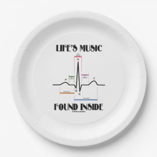 Life's Music Found Inside ECG Electrocardiogram 9 Inch Paper Plate