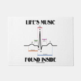 Life's Music Found Inside ECG Electrocardiogram Doormat