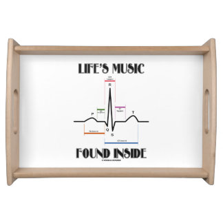 Life's Music Found Inside ECG Electrocardiogram Serving Tray