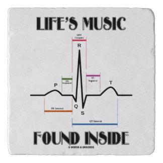 Life's Music Found Inside ECG Electrocardiogram Trivets