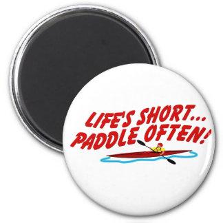 Lifes Paddle OftenShort 6 Cm Round Magnet