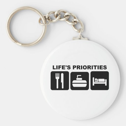Life's priorities, CURLING Keychain