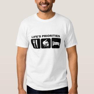 Life's priorities, Piano Music T-shirt